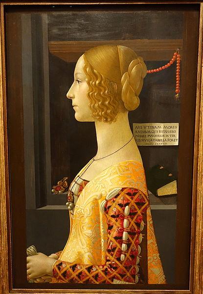 Portrait of Giovanna Tornabuoni, Domenico Ghirlandaio, Public domain