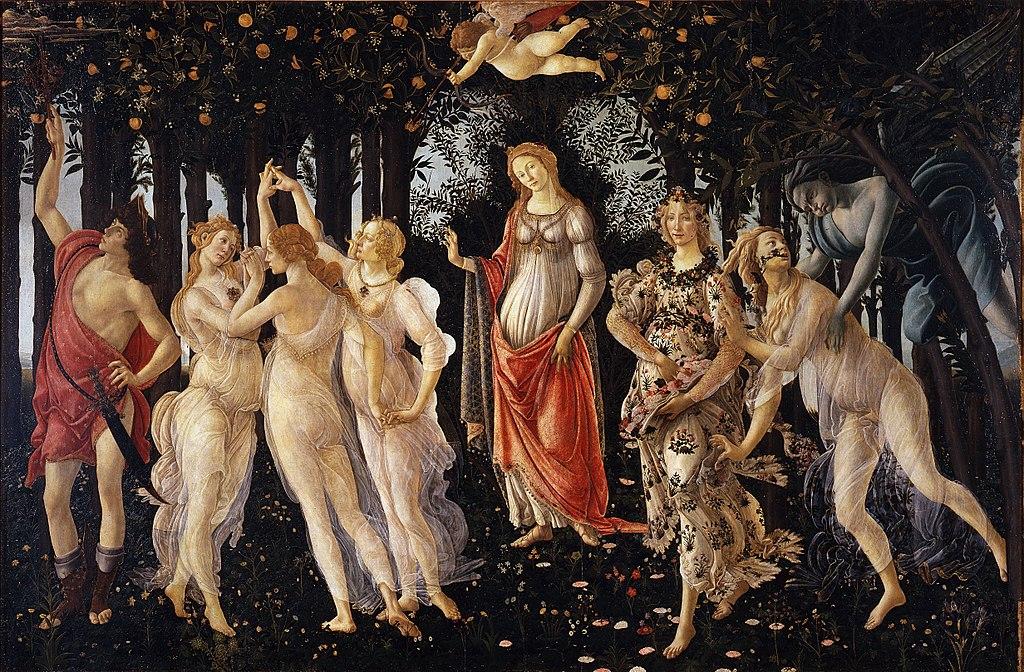 Primavera by Sandro Botticelli, public domain