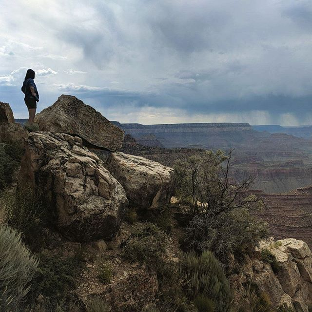The start of vacation was grand!  #grandcanyon #hike #birthday #vacation #notimetocontemplatemortality #morescenicoverlooksahead