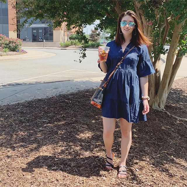 One of my makes out in the wild! Wore my #ddmyosotis dress to the Greensboro Folk Festival this weekend and had a blast  #memadewardrobe #isew #isewmyownclothes #msmakes #diy #diyfashion #sewcialists #millennialsewing