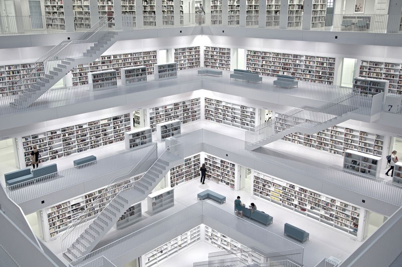 The Stuttgart City Library, Germany