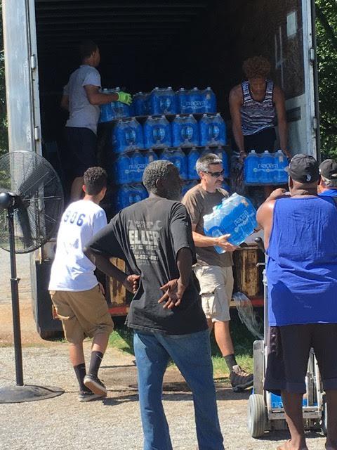 Community unloading water