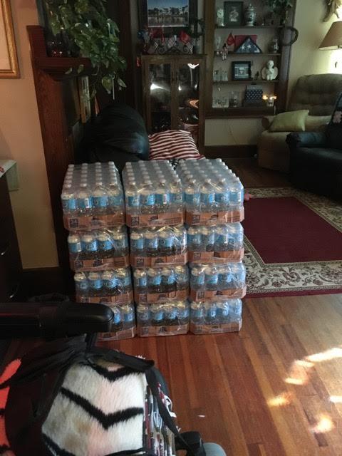 Water sitting in Deborah Graham's living room