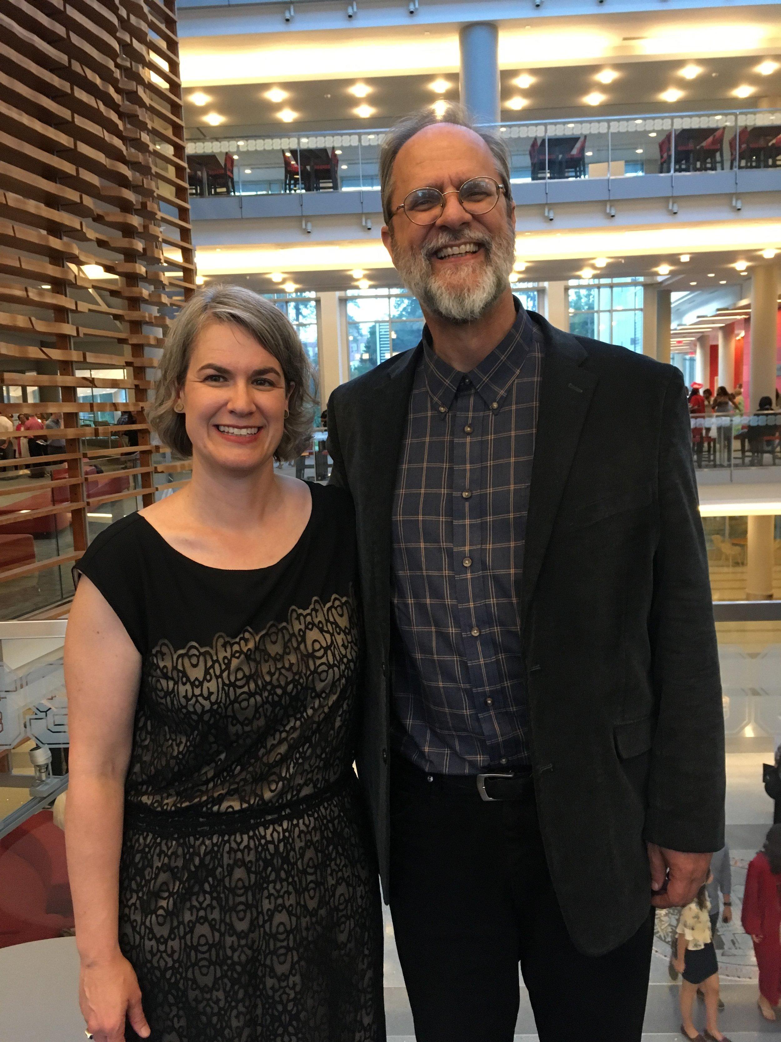 Caroline Armijo and Dr. Rodney Waschka II, Director of Art Studies