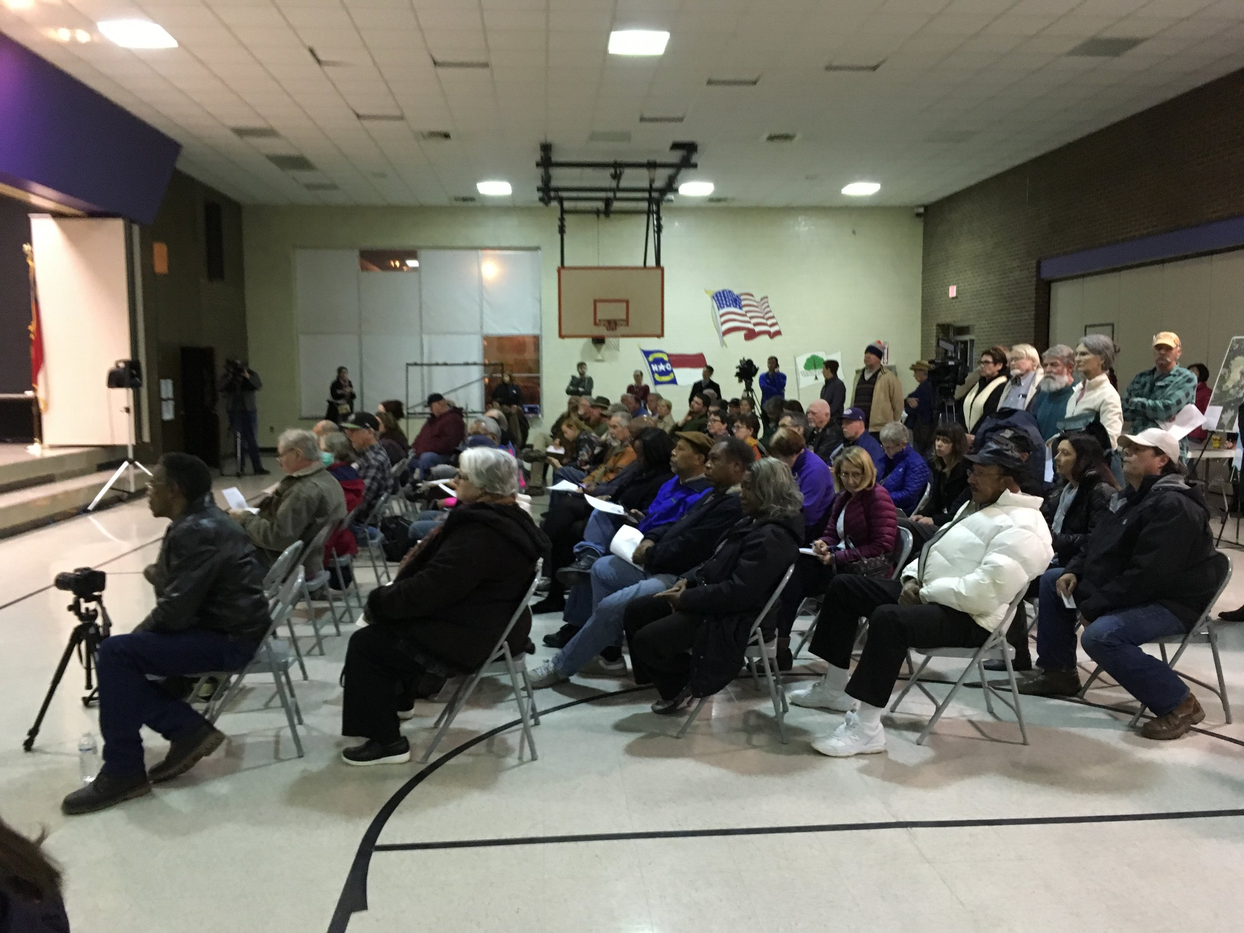 A full house despite the cold weather and numerous impacted community members attending a funeral prior to the event.