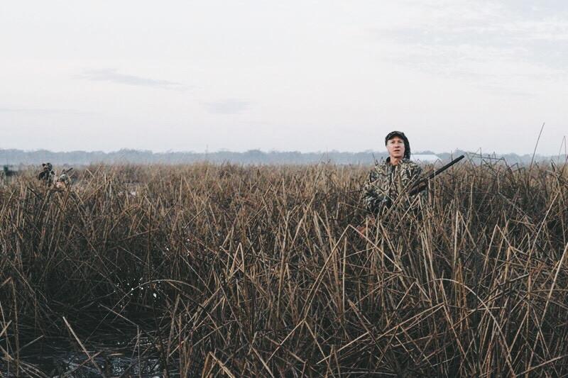 Duck Hunter in Rice Field