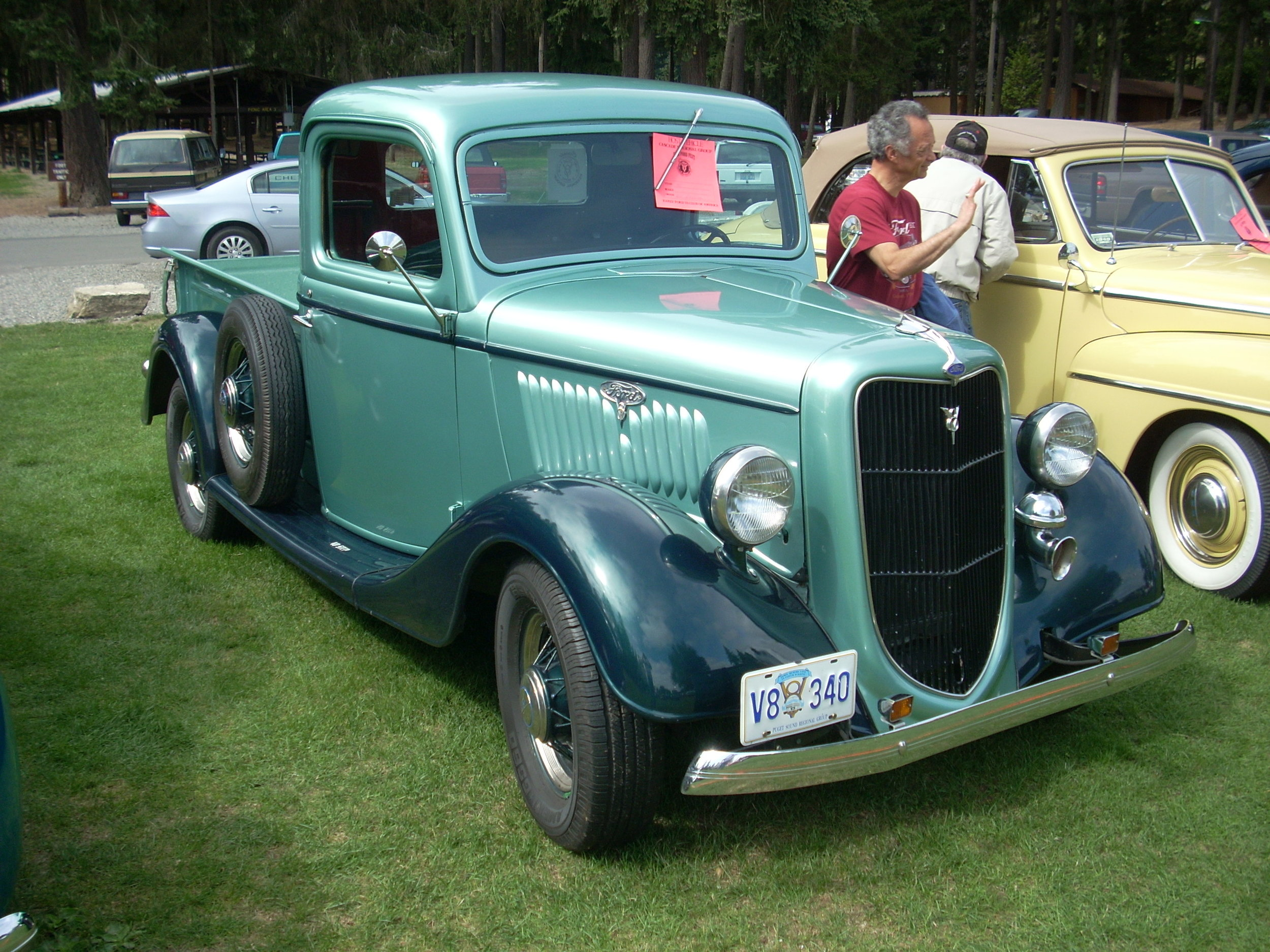 Bill Henline and Trudy Klein - 1935 Ford Pickup