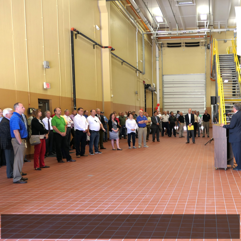 About 60-75 people taking in the Owatonna Energy Station dedication open house last week.