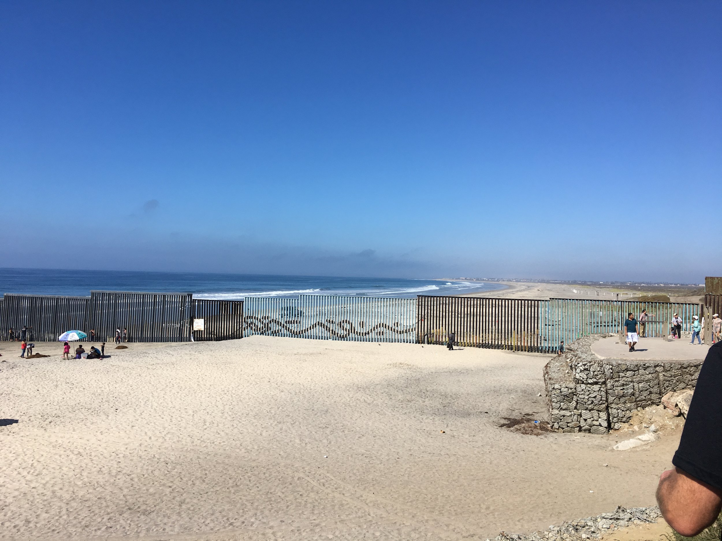Looking into the United States from Tijuana, Mexico