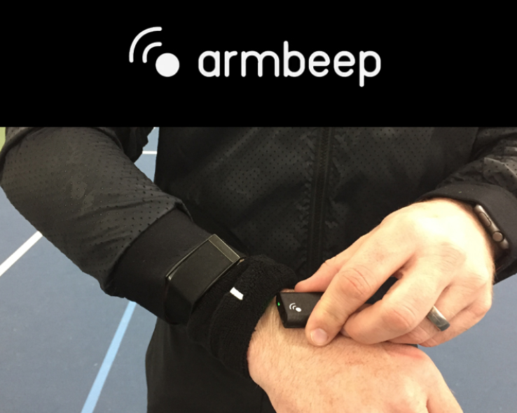 """Armbeep"" is a 2nd Gen. Tennis Sensor"