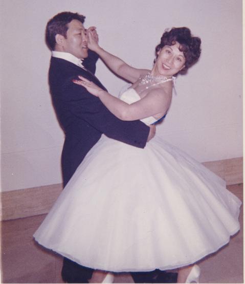 Ken and Miye Ota began dancing through the Arthur Murray school.