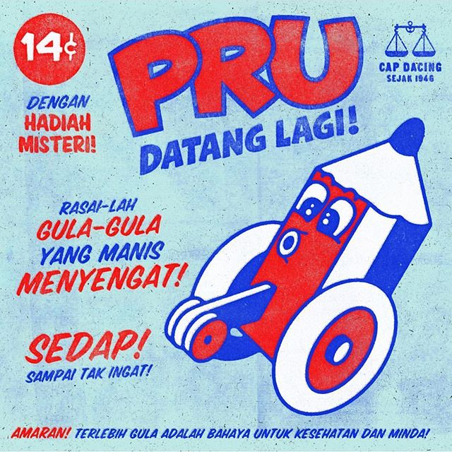 Here we go again! For many of us young voters, it'll be our first time #ge14 #undilah  Photo: @cultkids