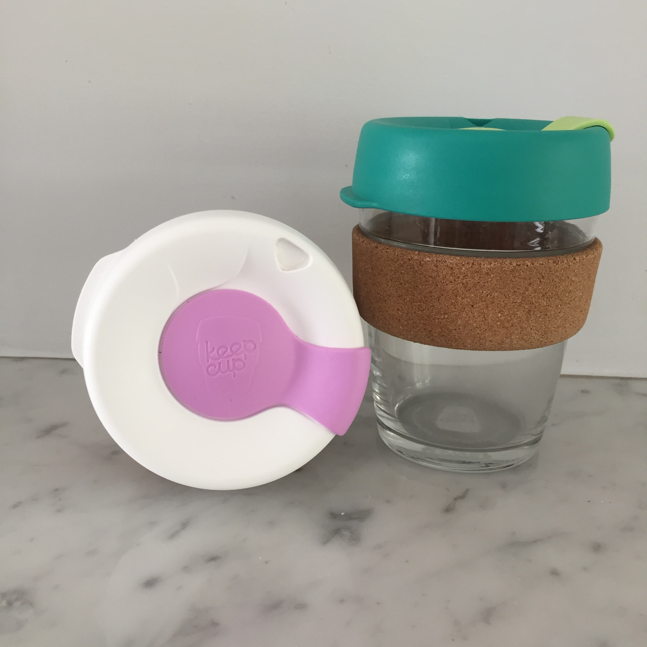 Keep Cups for sustainable coffee on our weekend walks.