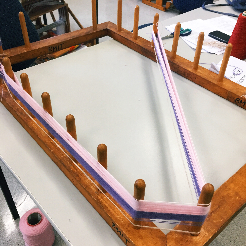 Preparing warp yarns to go on the loom