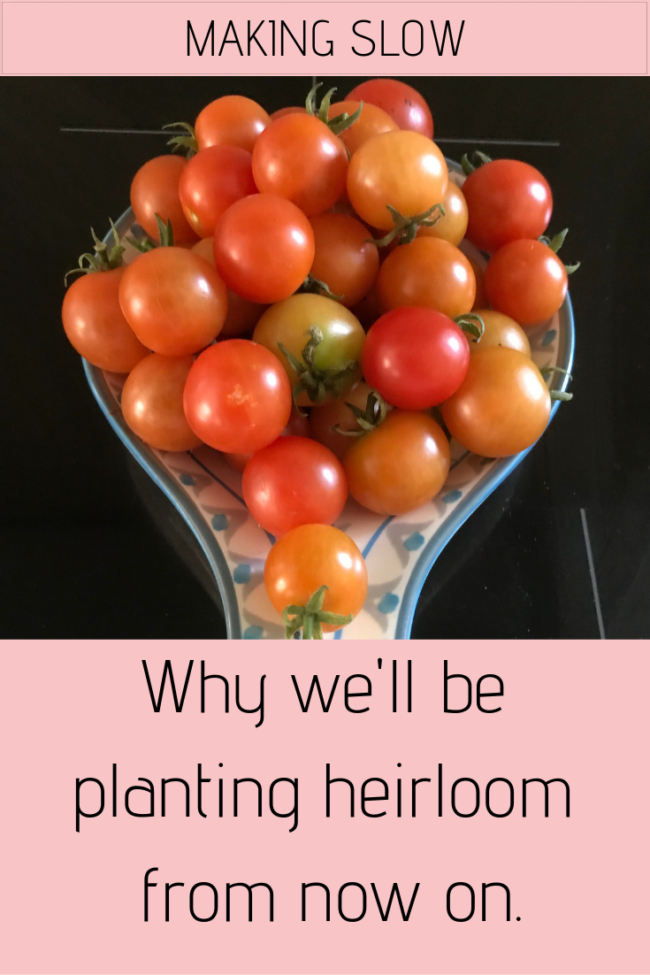 We'll be going out of our way to grow heirloom fruit and veggies from now on. Read why.