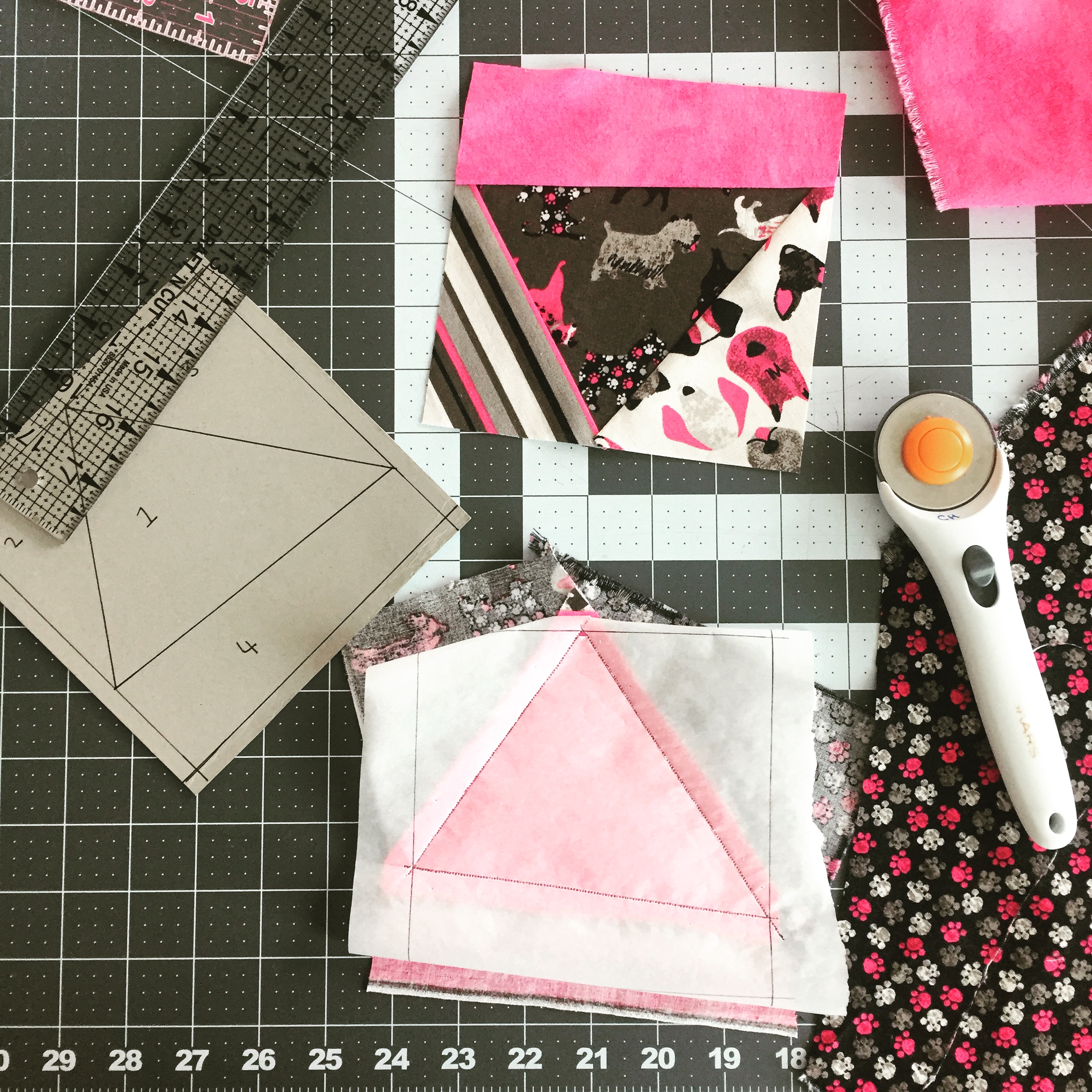 Paper piecing, a quilting skill I learnt from YouTube.