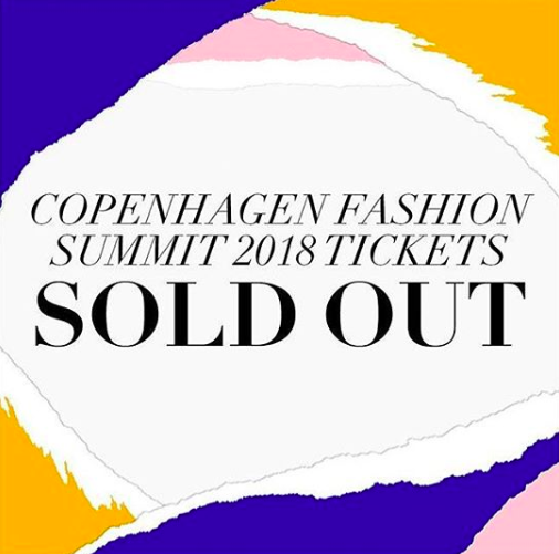 The fashion summit was sold out… And also in Copenhagen… But it was live streamed so I could watch the whole thing!