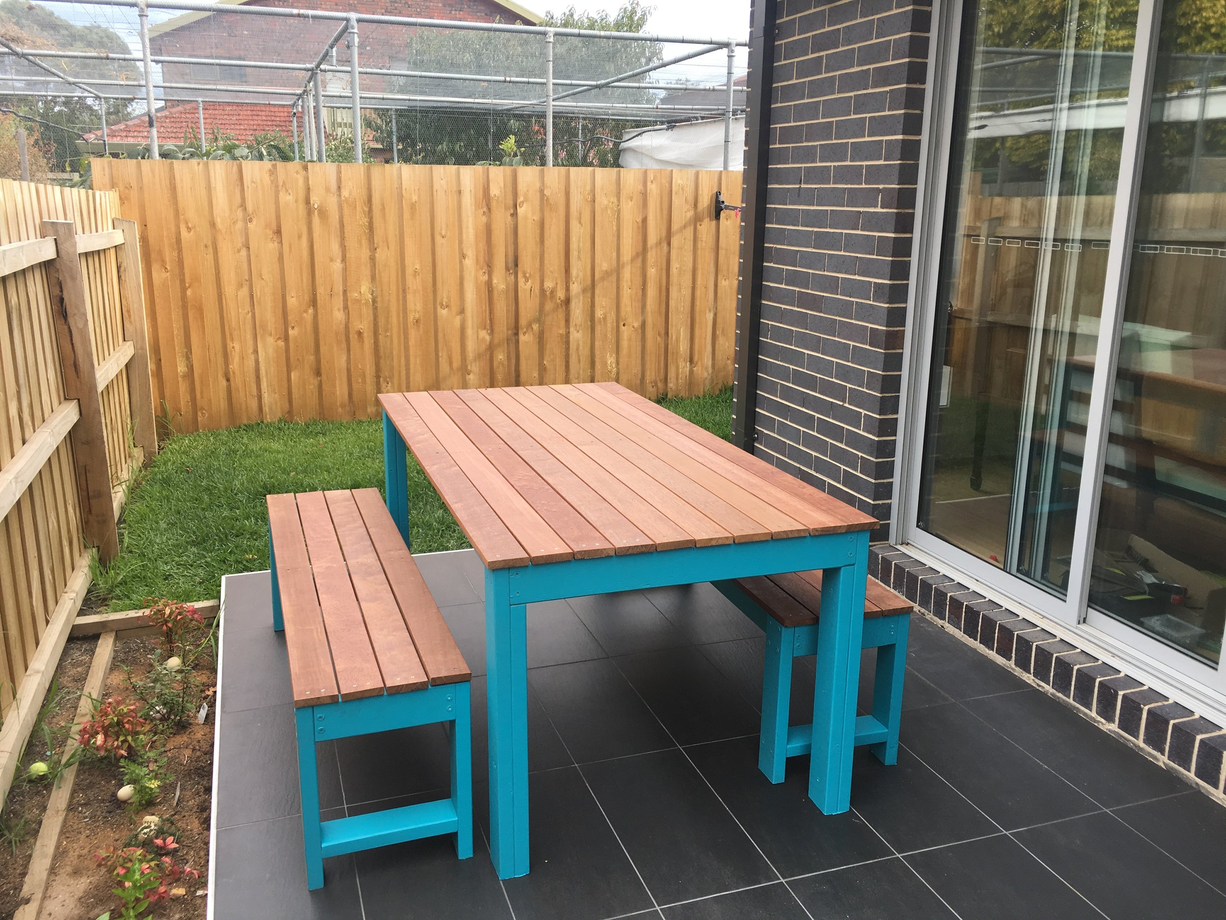 An outdoor table project I built this year