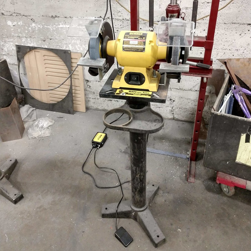 We were able to reduce the run-down time of this bench grinder from nearly  2 minutes  to just  2 seconds .