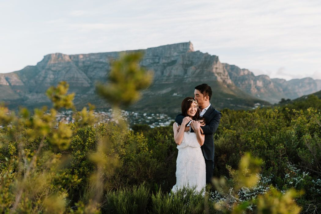destination elopement table mountain signal hill lions head Cape Town wedding photographer matt masson South Africa Johannesburg Durban