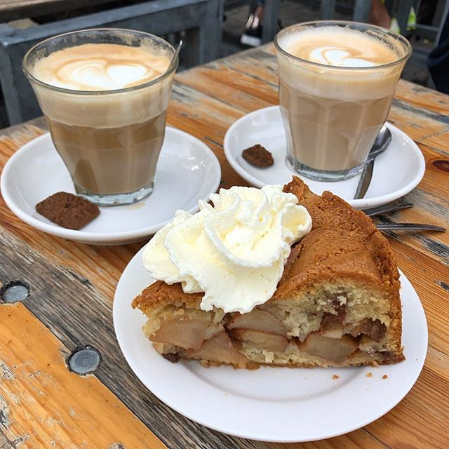 ✌🏼Netherlands | Amsterdam | Foodie | Winkel 43 This Apple Pie made my dayyyy!!! Super tasty, I definitely could eat one by myself😋😌☺️ . . Homemade Apple Pie + Cream €4.4 Soya Latte €2.8 . . . #人生好難 #netherlands #holland #ams #amesterdam #vacation #like4like #likeforfollow #likeforlike #like4follow #l4l #the2019series #shotoniphone #thefromaboveseries #iphonography #iphonephotography #iphoneshot #phoneonly #buzzfeedfood #tastedgood #tastespotting #buzzfeedfood #buzzfeast #foodporn #fooddiary #4foodieforfoodie #foodieamsterdam