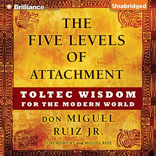 "Building on the principles found in his father's best-selling book  The Four Agreements,  don Miguel Ruiz, Jr., invites us to gauge how attached we are to our own point of view. In  The Five Levels of Attachment,  he will help you gain awareness of the agreements you have been implicitly making all these years that shape your reality and affect your future and show you how to release the attachments which no longer reflect who you really are.  This method is 20 years in the making. When don Miguel Ruiz, Jr., began his apprenticeship into his family's Toltec tradition, he was just 14 years old. His first task was translating his grandmother's talks from Spanish into English. One day, as he struggled to keep up with her, she asked him: Are you using knowledge, or is knowledge using you?Finding the answer to this question would shape the destiny of his life. In this groundbreaking work, Ruiz explains each of the Five Levels of Attachment in detail and shows that as our level of attachment to a belief or idea increases, ""who we are"" becomes directly linked to ""what we know"".  Our attachment to beliefs - our own and the beliefs of others - manifests as a mask we don't realize we can take off. But with don Miguel Ruiz's help, and some Toltec wisdom along the way, we can return to our True, Authentic Selves, unhindered by judgment and free to pursue our true life's calling"