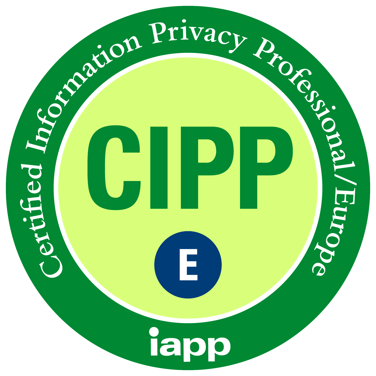 CERTIFIED Information Privacy Professional Europe IAPP GDPR