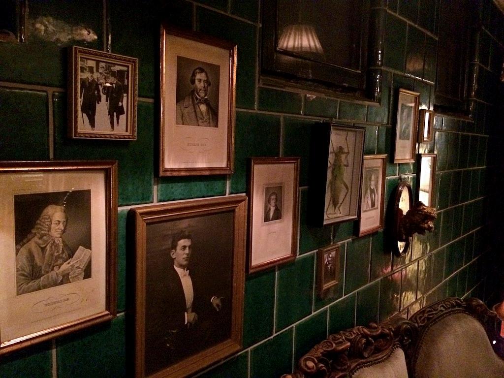 Photos along the wall