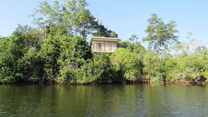 One of the villas overlooking the lake