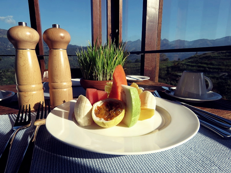 Fresh fruit and beautiful views for breakfast