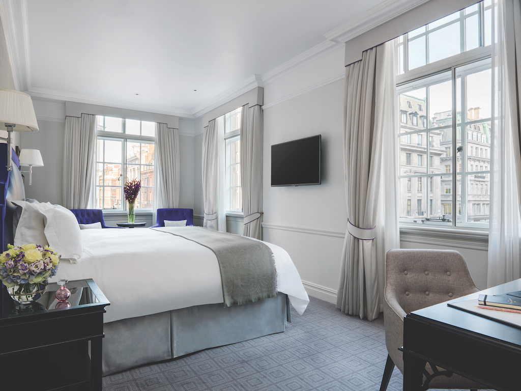 A look at the Grand Executive Room (not where we stayed but this gives a good idea of the decor in the rooms!) (photo: The Langham London)