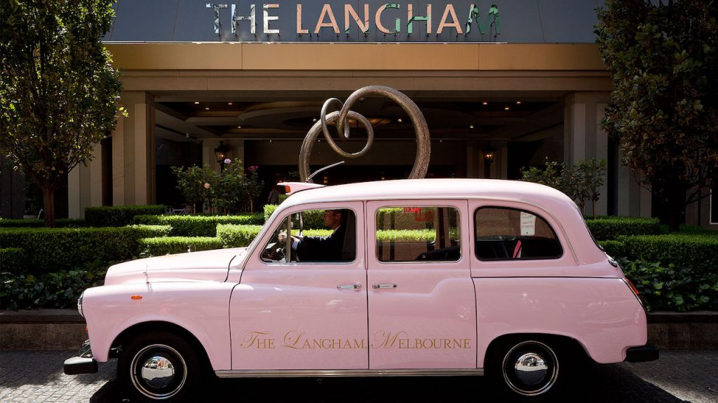 The iconic Langham pink taxi (love it!!) (photo credit: Langham Melbourne)