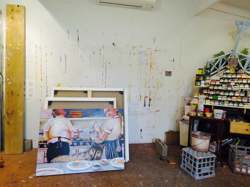 We had the chance to peek into Allan Wolf-Tasker's studio!