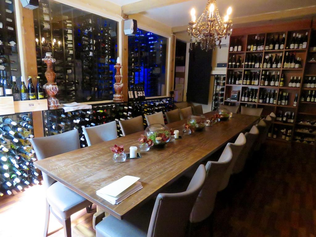 The incredible wine cellar