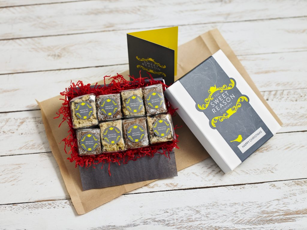 The Mince Pie and Baileys Brownie Bites Gift Box