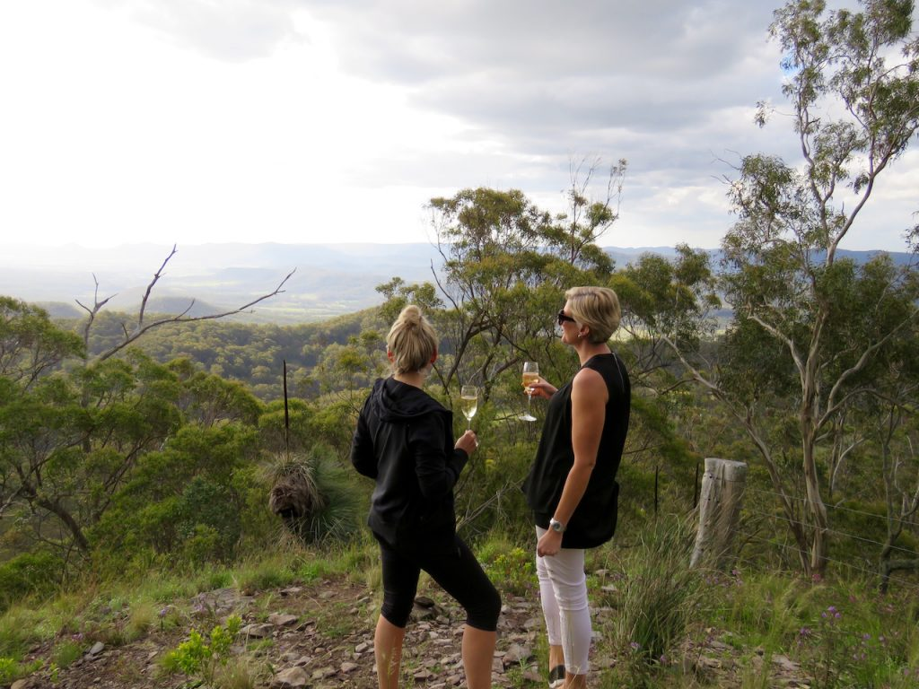 Admiring the view at Ryans Lookout