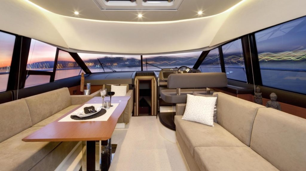 Seating in the yacht
