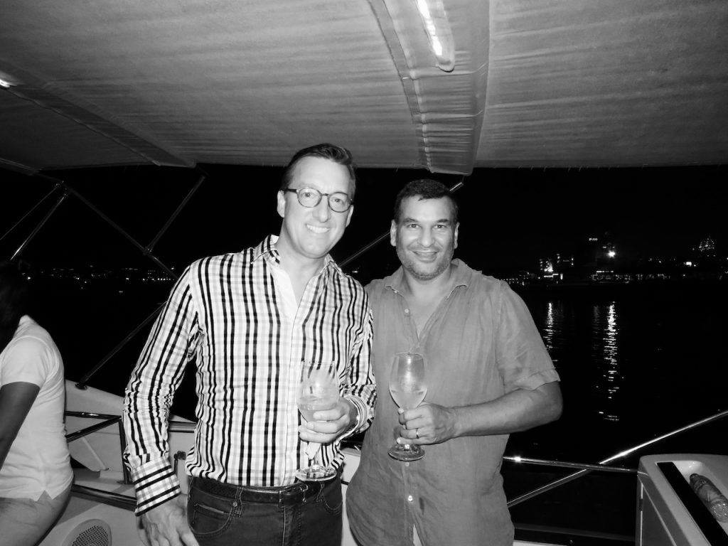 Globaleye CEO Tim Searle with SmartYacht Middle East's Managing Director Chirag Shah