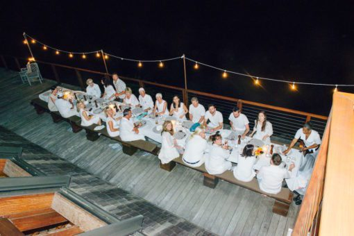 Our White Party evening