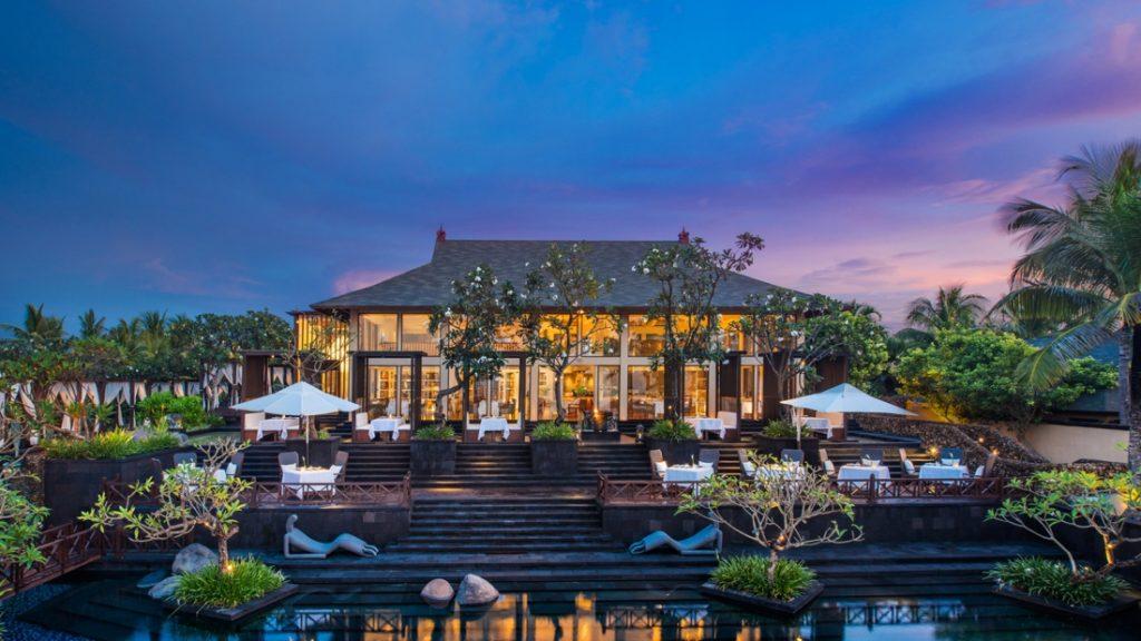 The stunning exterior of Kayuputi Restaurant. (Photo courtesy of St. Regis Bali)