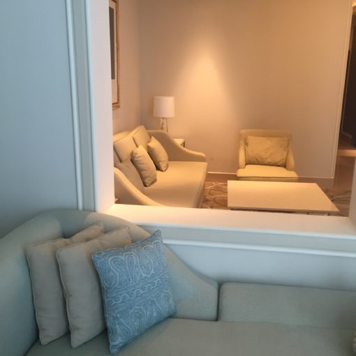 The sitting area in our suite