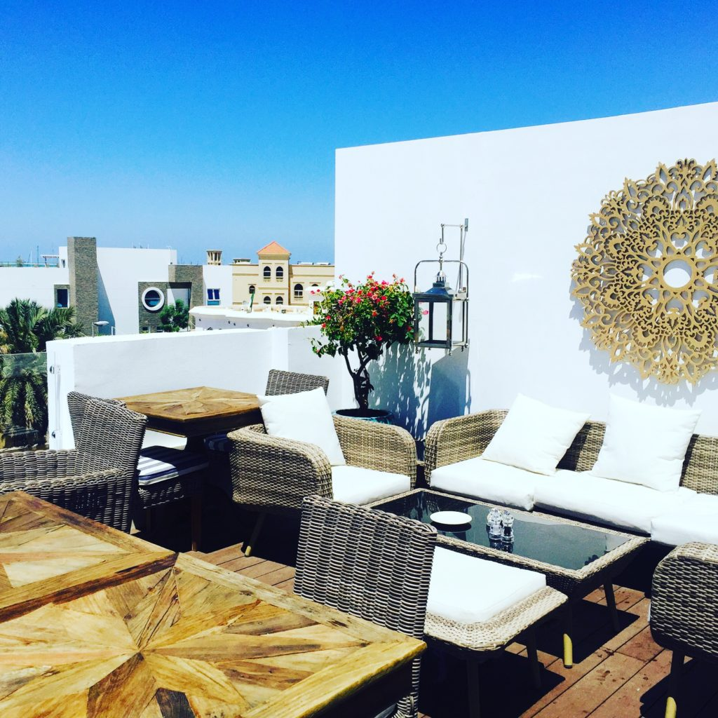 The sunny and delightful rooftop