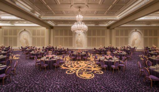 The plush ballroom