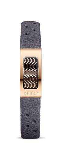 Philip Stein Slim Sleep Bracelet in Grey and Rose Gold