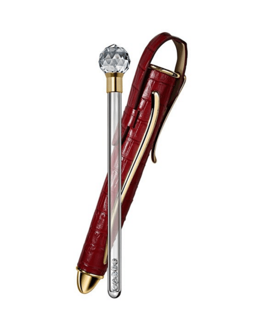 Travel Wand with Red Leather Case