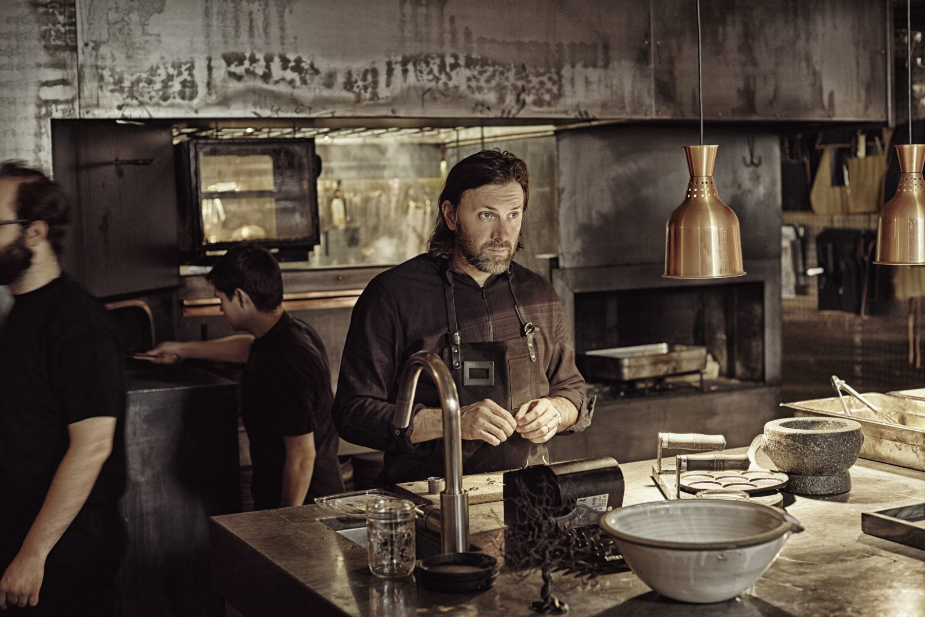 Chef Niklas Ekstedt   (photo credit: Helen Pe)