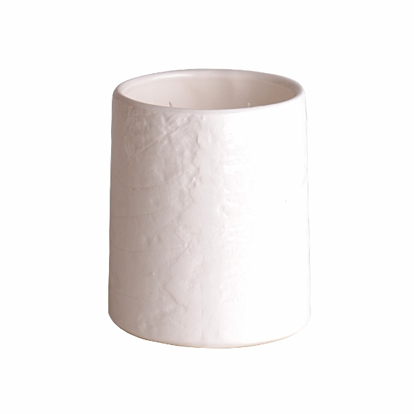 Bed Bath Body - White Ceramic Candle