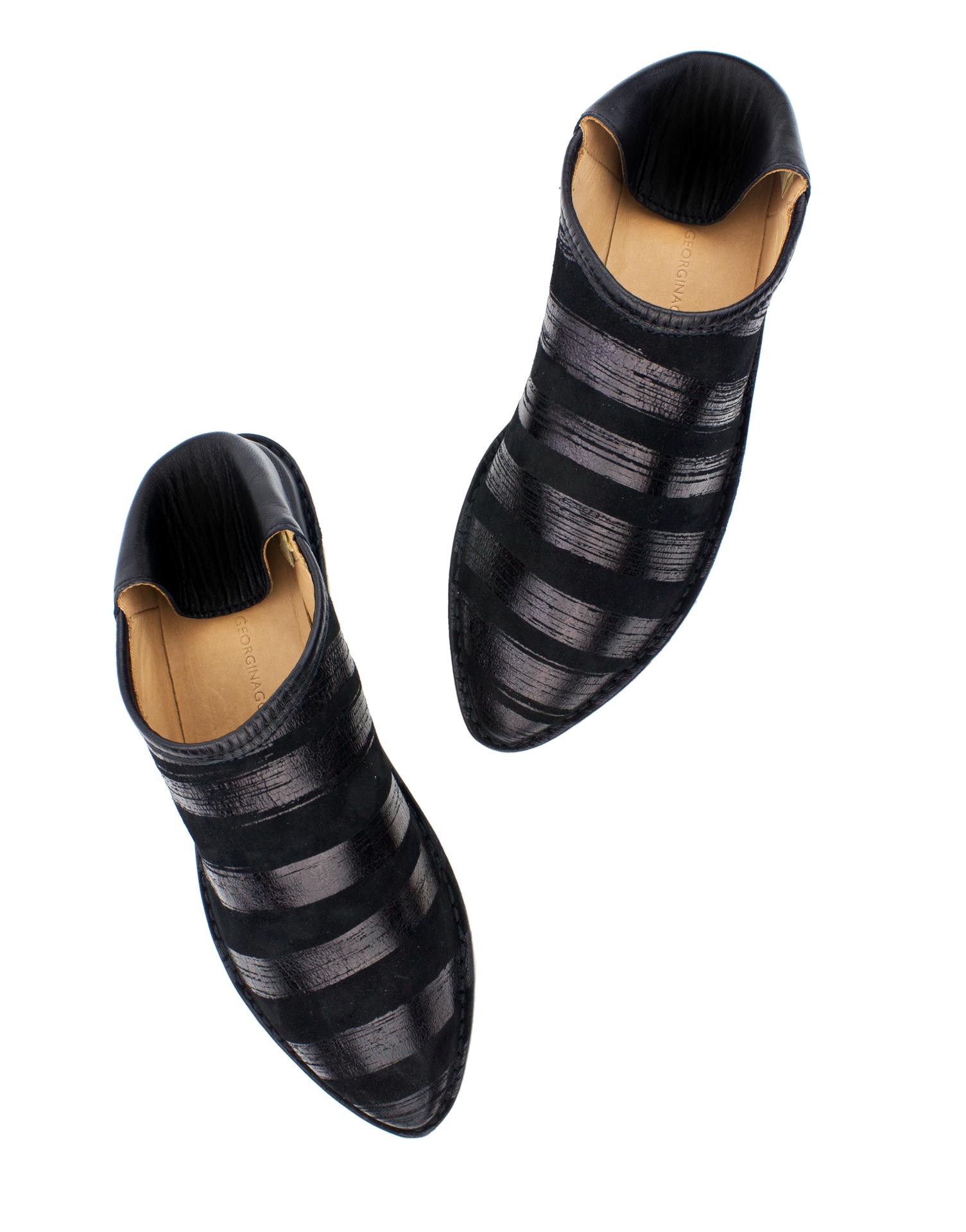 Georgina Goodman - Black & Black Striped Slipper