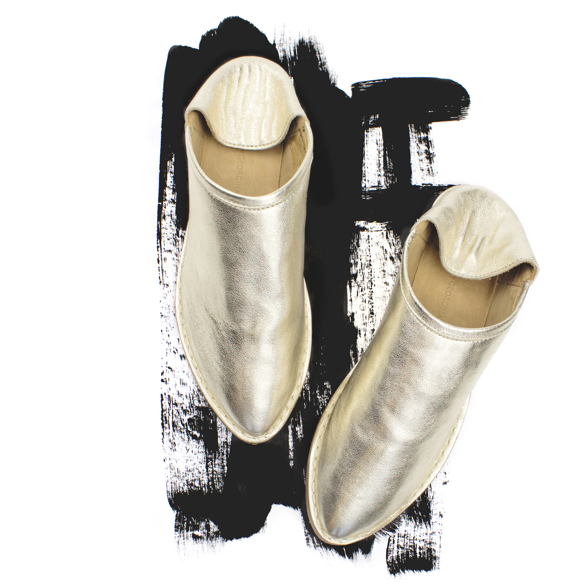 Georgina Goodman - Gold Leather Slipper