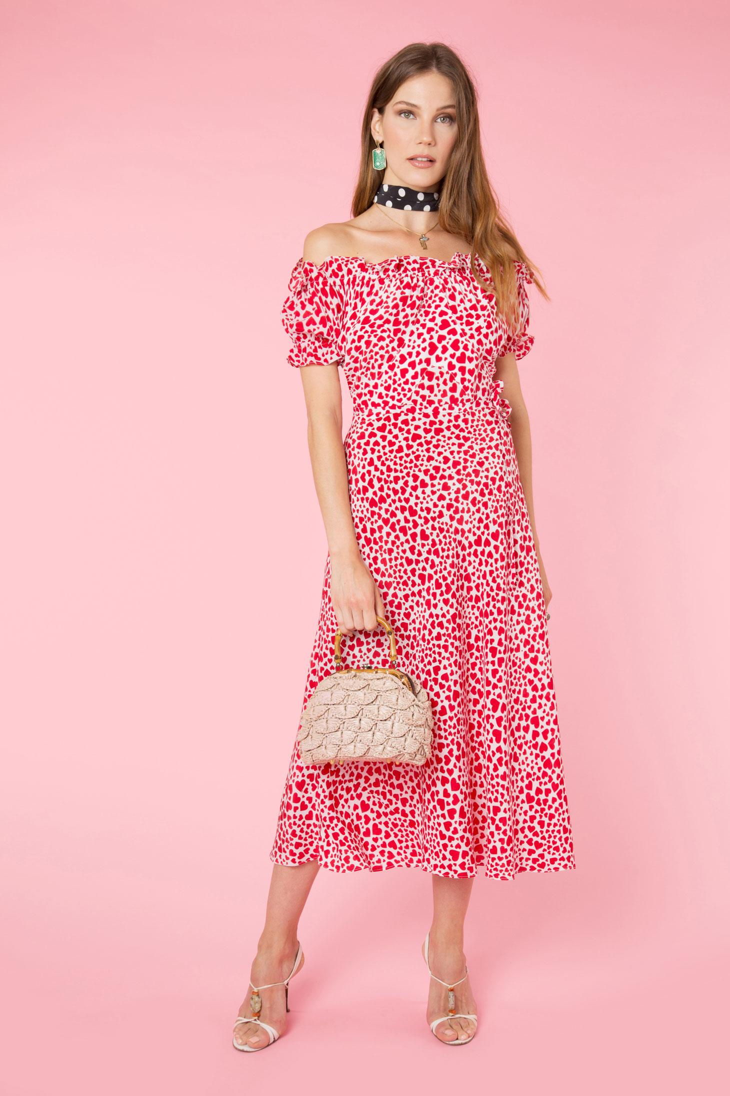 RIXO - Love Heart Bella Dress